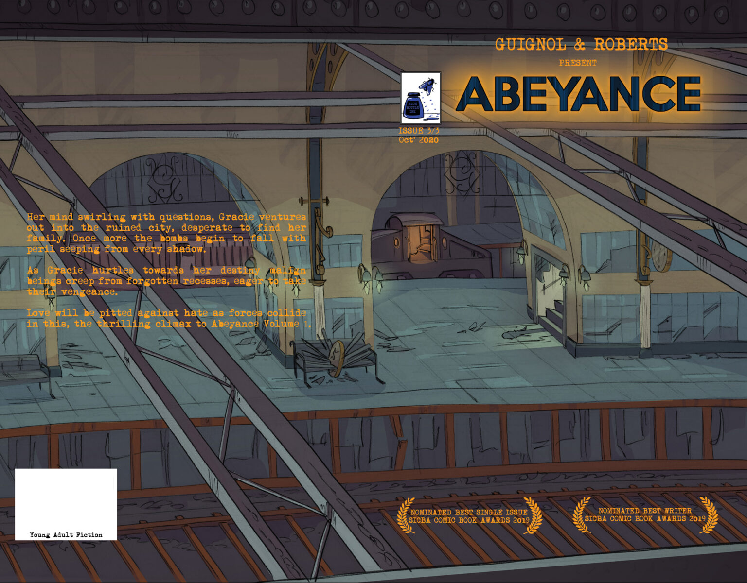 cover for the final issue of the first arc of Abeyance